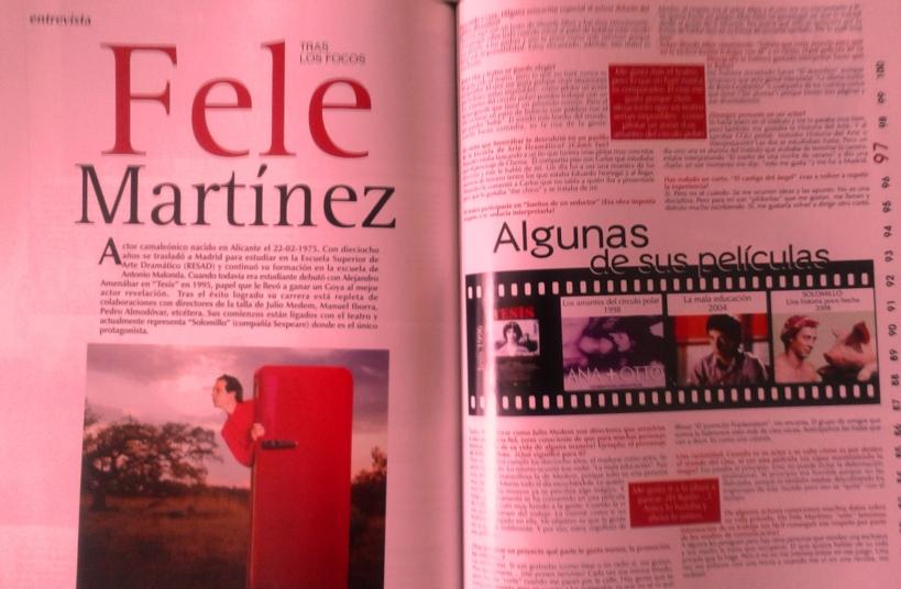 Entrevista Fele Martínez.