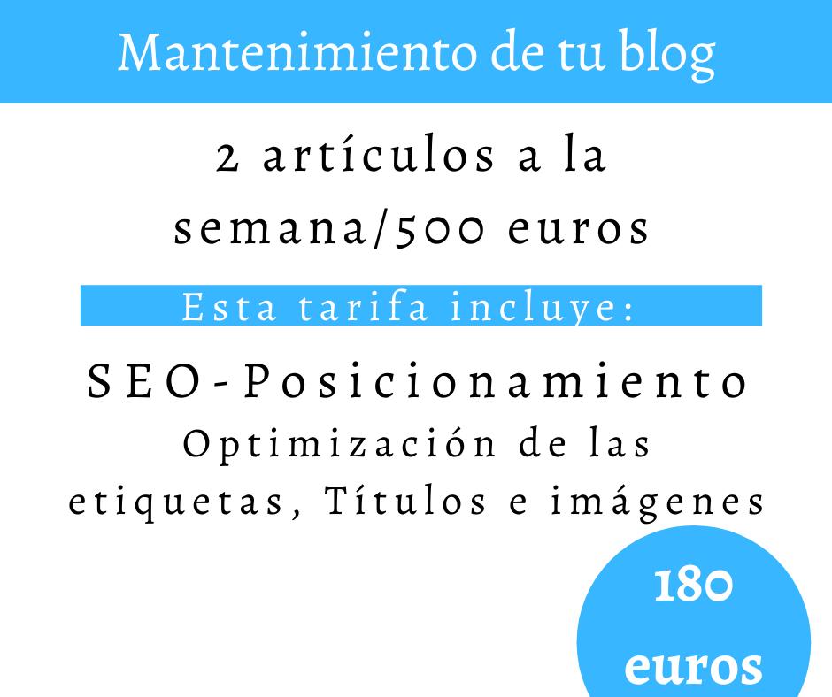 Mantenimiento de tu blog